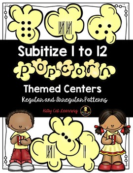 Subitize and Recognize Numbers 1 - 12 - Popcorn Themed Math Centres