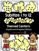 Subitize and Recognize Numbers 1 - 12 - Popcorn Themed Mat