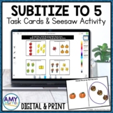 Subitize to 5 Seesaw Activity Fall Themed