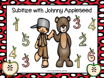 Subitize with Johnny Appleseed:  NO PREP Roll and Cover Game