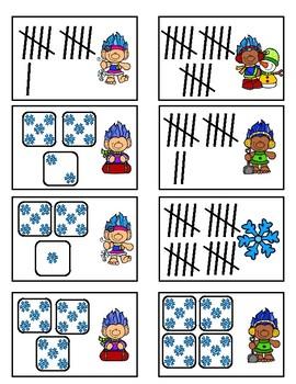 Subitizing 11-30 - Winter Troll Fun Game