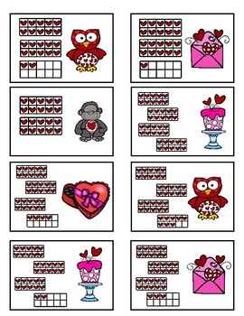 Subitizing 20-40 - Valentine Fun Game