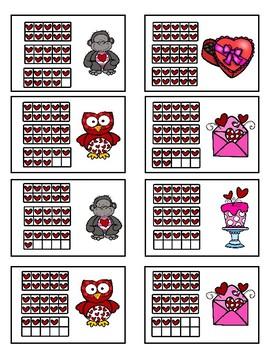 Subitizing 20-40 - Valentine Fun Game