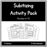 Subitizing Activity Pack - Numbers 1-10