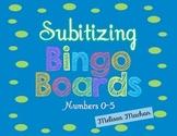 Subitizing Bingo Boards