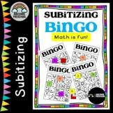 Subitizing Bingo Game Numbers 1-9