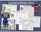 Subitizing Bingo Mats #Flash Freebie