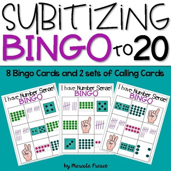 Subitizing Bingo to 20~Build Number Sense!