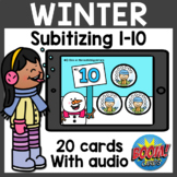Subitizing Boom Cards | Winter Boom Cards Distance Learning