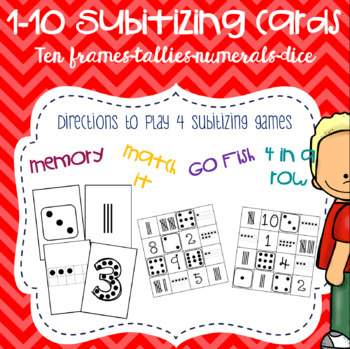 Subitizing Card Deck and Games