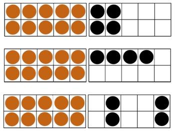 Subitizing Cards 0-20 (Tens Frames) & Activities