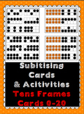 Subitizing Cards 0-20 (Tens Frames) & Activities