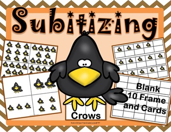 Subitizing Cards, Blank 10 Frame with Fall Crows