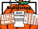 Pumpkin Subitizing Cards, Blank 10 Frame
