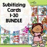 Subitizing Cards 1-30 BUNDLE