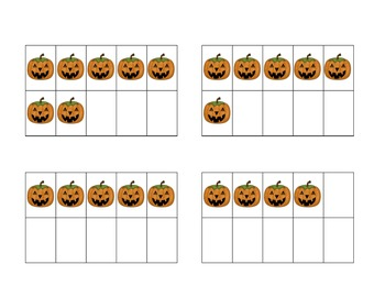 Subitizing Cards - Halloween Dot Patterns and Ten Frames
