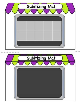 Subitizing Cards, Mats, & Matching Game, Numbers 0-10