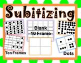 Subitizing Cards, Blank 10 Frame