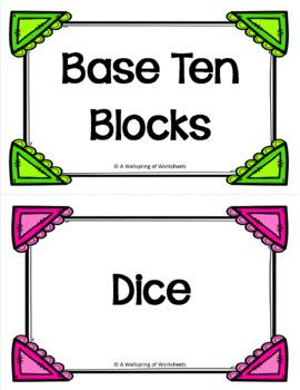 Subitizing Cards to 10 - Extra Large Set