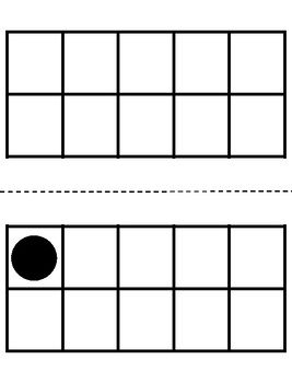 Subitizing Cards for Ten Frames 0 to 10