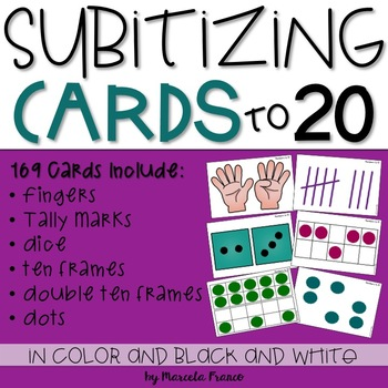 Subitizing Cards to 20~Build Number Sense
