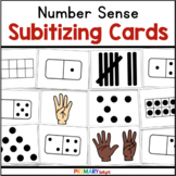 Subitizing Cards with Ten Frames and Dot Patterns and Tally Marks