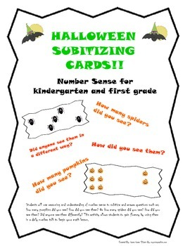 Subitizing Cards_Halloween Fun