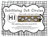 Subitizing Circle Dot Cards