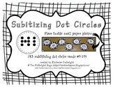 Subitizing Circle Dot Cards