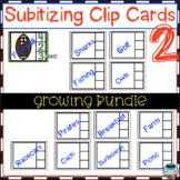Subitizing Clip Card -Growing Bundle 2