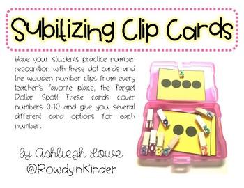 Subitizing Clip Cards