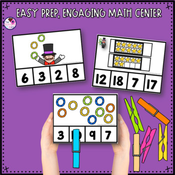 Subitizing Clip Cards for Numbers 1-20
