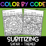 Safari Subitizing | No Prep Color By Number Activities