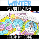 Winter Subitizing | No Prep Color By Number Activities