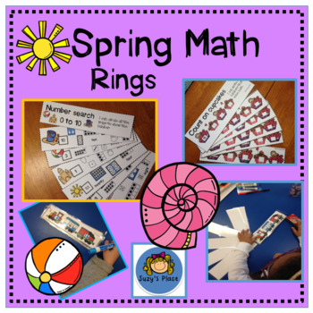 Spring Subitizing, Counting  On and Number Sense Math Rings