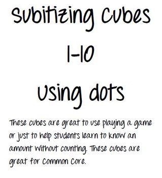 Subitizing Cubes