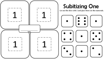 Subitizing Dice - 6 activity sheets