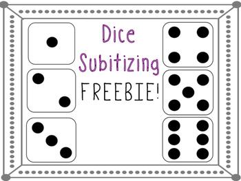 Subitizing Dice Activity FREEBIE