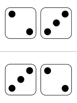 Subitizing Dice Cards