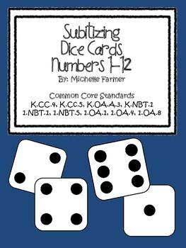 Subitizing Dice Cards