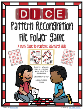 Subitizing  Dice Pattern Recognition File Folder Math Game