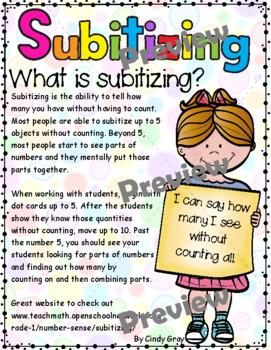 Subitizing Dot Cards 1-10