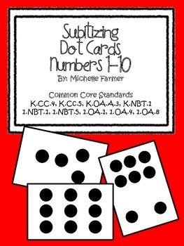 Subitizing Dot Cards