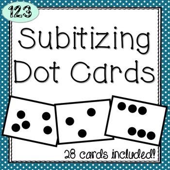Subitizing Dot Flashcards