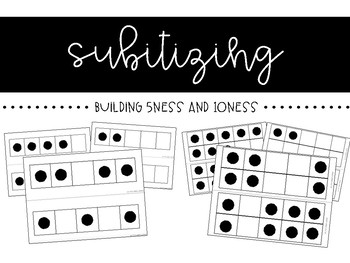 Subitizing Dot Cards - 5 Frames and 10 Frames