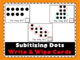 Subitizing Dots Write & Wipe Cards