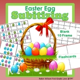 Subitizing Easter 10 Frame And Flashcards
