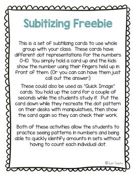 Subitizing FREEBIE