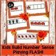 Subitizing: Fall Dot Cards & Five Frame Flash