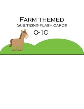 Subitizing Flashcards 0-10 (Farm themed)
